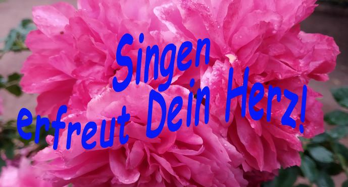 Singen stärkt die Lebensfreude und erfreut Dein Herz